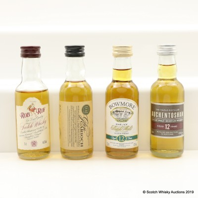 Assorted Minis 4 x 5cl Including Bowmore 12 Year Old Old Style