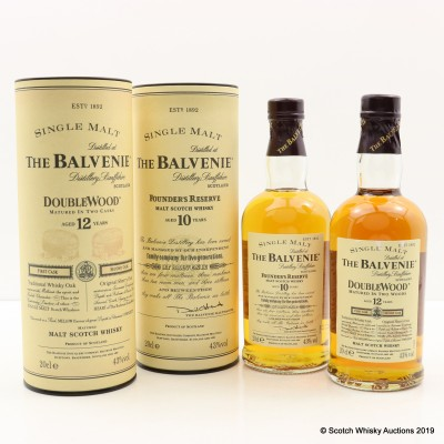 Balvenie 10 Year Old Founder's Reserve 20cl & 12 Year Old DoubleWood 20cl