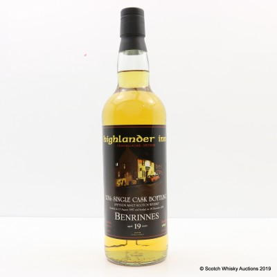 Benrinnes 1997 19 Year Old Douglas Laing Single Cask For The Highlander Inn Craigellachie