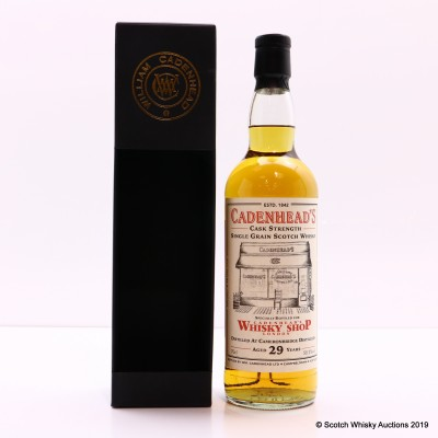 Cameronbridge 1989 29 Year Old For Cadenhead's Whisky Shop London