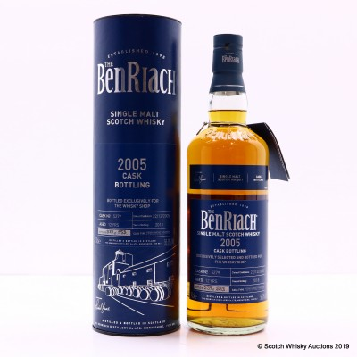 BenRiach 2005 12 Year Old Single Cask #5279 For The Whisky Shop