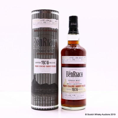 BenRiach 1970 38 Year Old Single Cask #1035