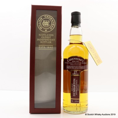 Dumbarton 1987 27 Year Old Cadenhead's