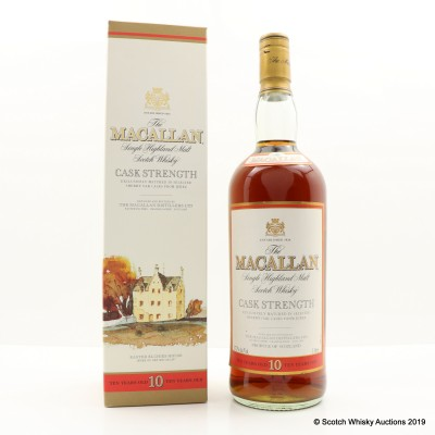 Macallan 10 Year Old Cask Strength Old Style 1L