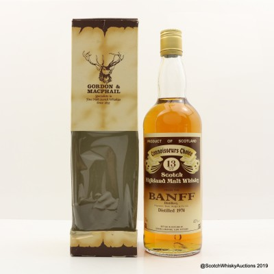 Banff 1974 13 Year Old Connoisseurs Choice 75cl