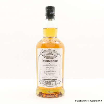 Springbank 10 Year Old HMS Campbeltown