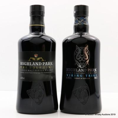 Highland Park The Dolphins Royal Navy Submarine Service Bottling & Highland Park Viking Tribe 2 x 70cl