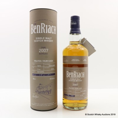 BenRiach 2007 11 Year Old Peated Rum Cask #7610