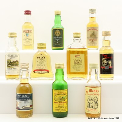 Assorted Minis 10 x 5cl Including White Horse