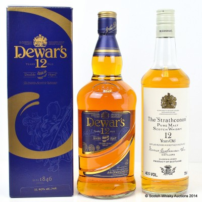 Dewar's 12 Year Old 1L & The Strathconon 12 Year Old 75cl