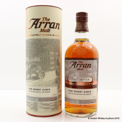 Arran 2008 9 Year Old Fino Sherry Casks For Sweden