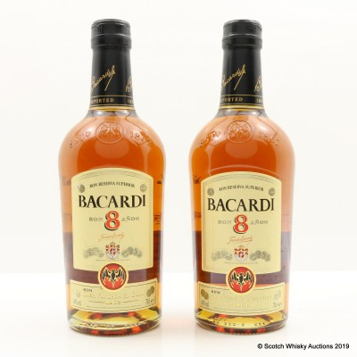 Bacardi 8 Year Old 2 x 70cl