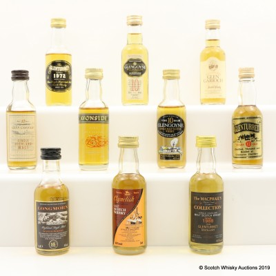 Assorted Minis 10 x 5cl Including Clynelish 12 Year Old Gordon & MacPhail