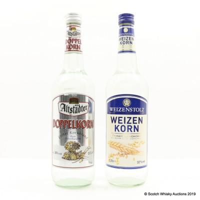 Alstadter Doppelkorn & Weizenstolz Weizenkorn 2 x 70cl