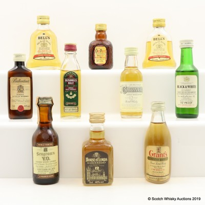 Assorted Minis 10 x 5cl Including House of Lords 12 Year Old