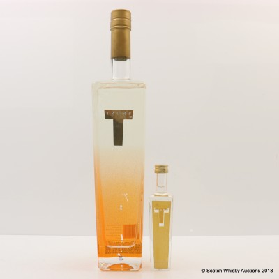 Trump Orange Vodka 75cl with Trump Vodka Mini 5cl