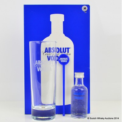Absolut Vodka Mini 5cl & Tumbler Set
