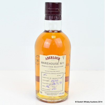 Aberlour Warehouse No 1 Single Bourbon Cask Selection 1998 16 Year Old