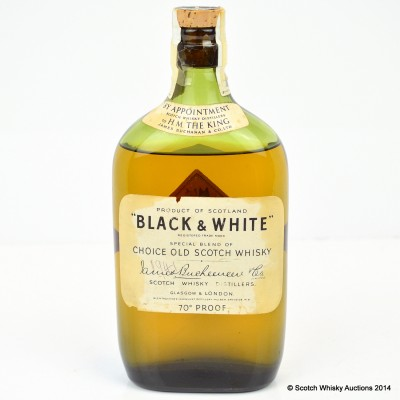 410381 Black & White 70° Proof [1947 Bottling]