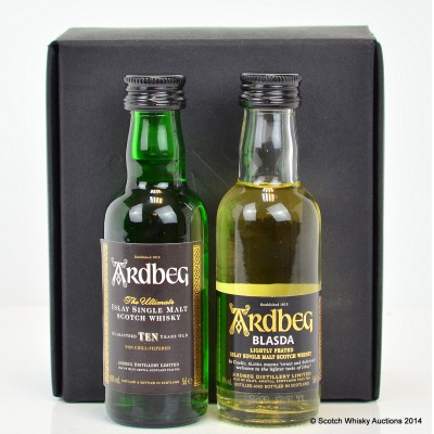 Ardbeg 10 Year Old Mini & Ardbeg Blasda Limited Release Mini Set