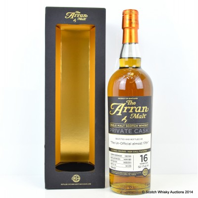 Arran Private Cask The Un-official Almost 17th
