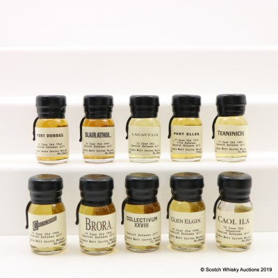 Drinks By The Dram Diageo Special Releases 2017 Tasting Set 10 x 3cl Including Port Ellen 37 Year Old 1979 17th Release