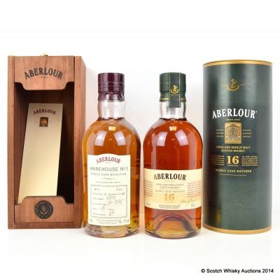 Aberlour Warehouse No 1 Single Bourbon Cask Selection 1995 16 Year Old Btl No 69 & Aberlour 16 Year Old
