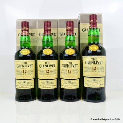 Glenlivet 12 Year Old 3 x 70cl & Glenlivet 12 Year Old 1L