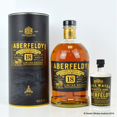 Aberfeldy 18 Year Old & Uisge Source Water For Aberfeldy