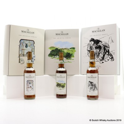 Macallan The Archival Series - Folio 1-3 3 x 70cl