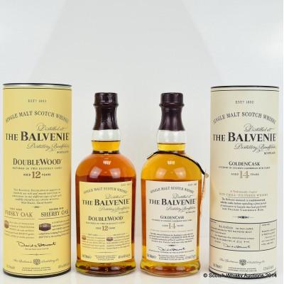 Balvenie DoubleWood 12 Year Old & Balvenie Golden Cask 14 Year Old