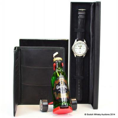 Glenfiddich Wrist Watch, Leather Wallet & Golf Mini