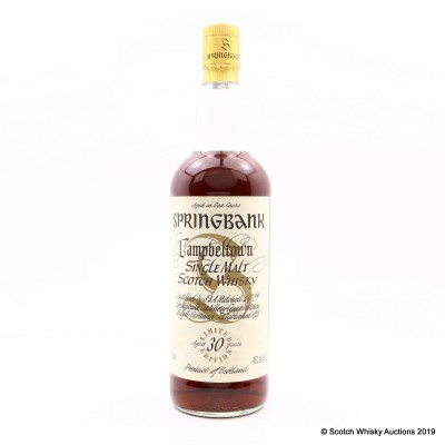 Springbank 30 Year Old Millennium Collection 75cl