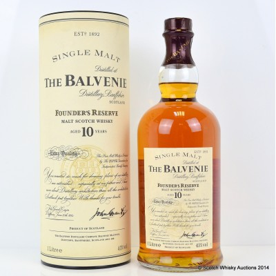 Balvenie Founders Reserve 10 Year Old 1L