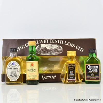 Glenlivet Distillers Quartet 4 x Minis 5cl
