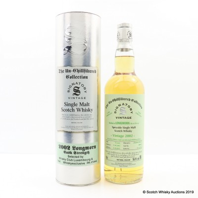 Longmorn 2002 16 Year Old Signatory Selected For Whisky Club Luxembourg & Whiskyexclusive Cask #800641