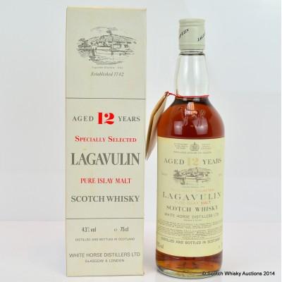 Lagavulin 12 Year Old White Horse Bottling 75cl