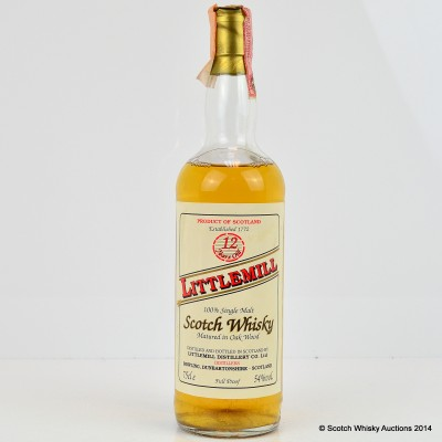 Littlemill 12 Year Old 75cl