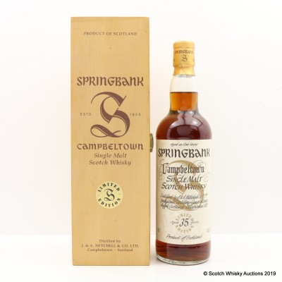 Springbank 35 Year Old Millennium Collection