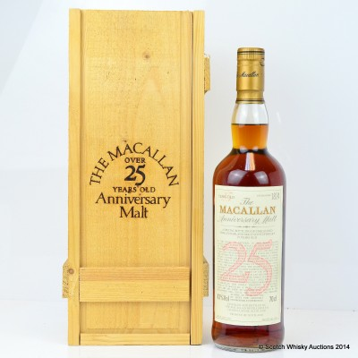 Macallan Over 25 Year Old Anniversary Malt 1971