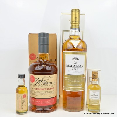 Macallan Gold With Mini 5cl & Glen Garioch Founder's Reserve With Mini 5cl