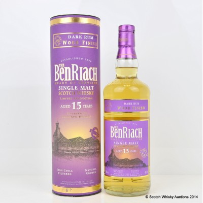 BenRiach Dark Rum Wood Finish 15 Year Old