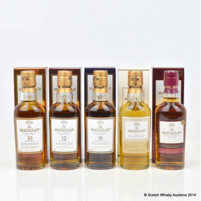 Macallan Minis 5 x 5cl Including Macallan 18 Year Old