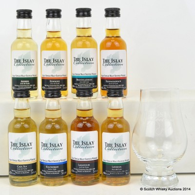 Islay Collection Minis With Glencairn Glass 8 x 5cl