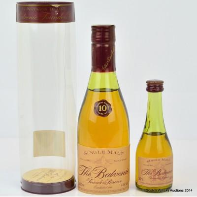 Balvenie Founder's Reserve 10 Year Old 20cl Cognac Bottle & Cognac Bottle Mini 5cl