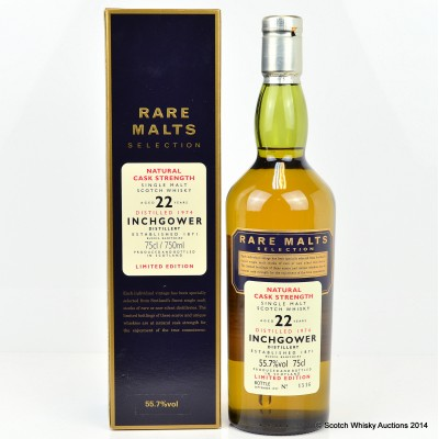 Rare Malts Inchgower 1974 22 Year Old 75cl