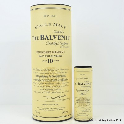 Balvenie Founder's Reserve 10 Year Old & Mini 5cl