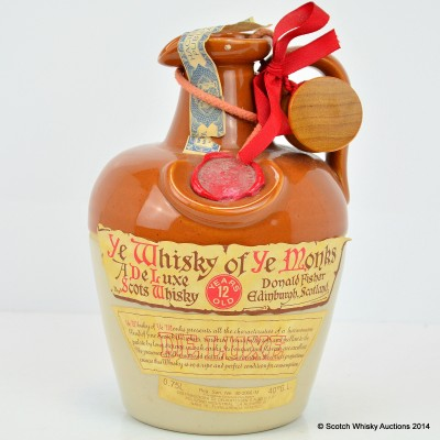 Ye Whisky Of Ye Monks 12 Year Old Flagon 75cl