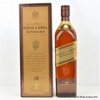 Johnnie Walker Gold Label Centenary Blend 18 Year Old 75cl