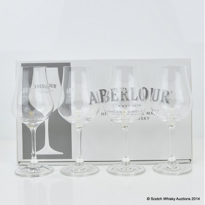Aberlour Crystal Nosing Glasses x 4